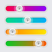 UI Color Volume Control Sliders Set. Vector. — Stock Vector