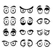 Comic Cartoon Eyes Set. Vector — Stock Vector