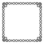 Calligraphic Frame and Page Decoration. Curl Border on Blank White Page. Vector — Stock Vector