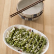 Stir fried long beans — Stock Photo
