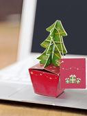 在办公室中的圣诞节 — 图库照片