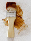 Barbecue sauce basting brush — Stock Photo