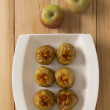 Golden baked apples — Stock Photo