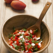 Stock Photo: Bowl of fresh salsa