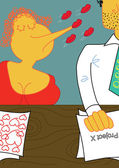 Workplace romance — Stock Vector