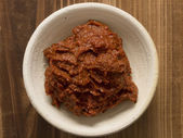 Indian red curry paste — Stockfoto