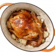 Golden roasted chicken — Foto Stock