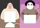 Online dating — Stock Vector