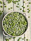 Frozen green peas — Stock Photo