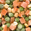 Frozen diced vegetables — Foto Stock