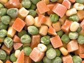 Vegetais congelados em cubos — Fotografia Stock