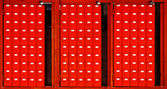 Red mailboxes — Stock Photo