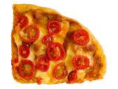 Vegetarian red cherry tomato pizza — Stock Photo
