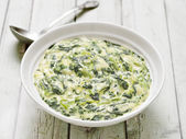 Cream spinach — Stock Photo