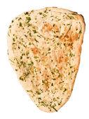 Indian garlic and parsley naan bread — Stock Photo