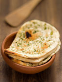 Rustic indian naan bread — Stock Photo