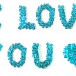 I love you inscription made of beautiful faceted beads — Stock Photo #19124455