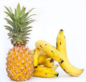Banana and ananas — Stock Photo