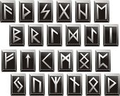 Vector Medieval runic alphabets of Germanic languages — Stock Vector