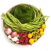 Geïsoleerde groenten ingesteld op witte achtergrond — Stockfoto
