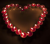 Candles light for romantic Background — Stockfoto