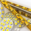 Royalty-Free Stock Photo: SMD LED-strip also G4 LED-bulbs and separate chips