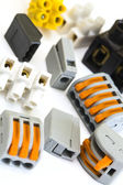 New and older connectors for electrical installations — Stock Photo