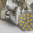 Stock Photo: Led bulb GU10 with 3-chip SMD warm white