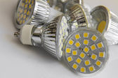 Led bulb GU10 with 3-chip SMD warm white — Stock Photo