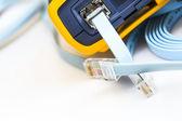 Probador de cable de red para conectores rj45 — Foto de Stock