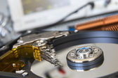 Opened HDD disc drive in the laboratory — Stock Photo