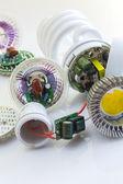 Electronics LED versus CFL — Stock Photo