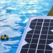 Stock Photo: Photovoltaic solar panels for heating water