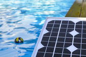 Photovoltaic solar panels for heating water — Stock Photo