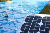 Photovoltaic solar panel for heating water — Stock Photo