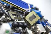 Processor and RAM on the motherboard — Foto Stock
