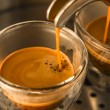 Mainstream of strong espresso coffee — Stock Photo