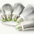 Arious sizes coolers to LED lamps of different power — Stockfoto #40668825