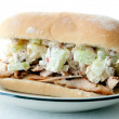 A waldorf inspired chicken salad sandwich — Stock Photo