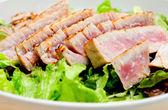 Tuna salad with fresh tuna fillets — Stock Photo