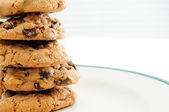 Home made chocolate chip and walnut cookies — Stock Photo