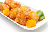 Sweet and sour chicken balls — Stock Photo