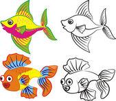 Tropica fish — Stock Vector