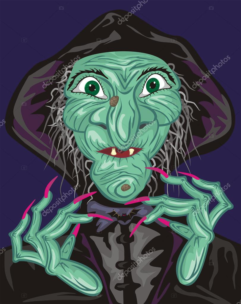 Toothless old hag terrible - not just a fairy tale for children  Stock Vector #13450611