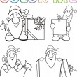 Color me - santa claus — Stock Vector
