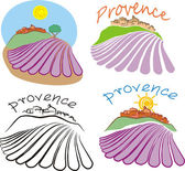 Provence - historical land of france — Stock Vector