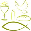 Holy communion - religious symbols — Stock Vector #14754299