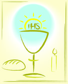 My first holy communion - background — Stock Vector
