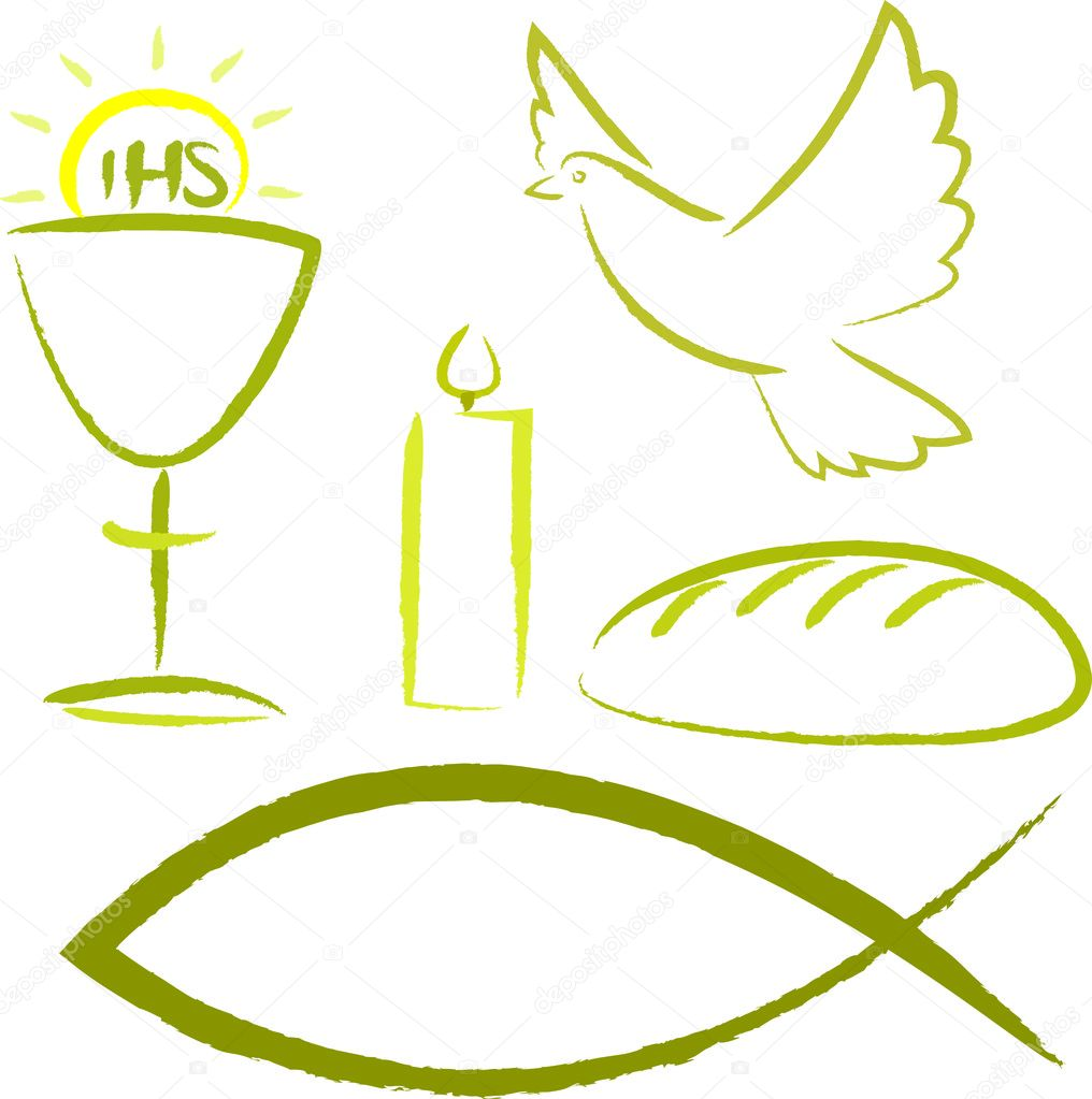 Symbols For Holy Eucharist http://depositphotos.com/14754299/stock-illustration-Holy-communion---religious-symbols.html