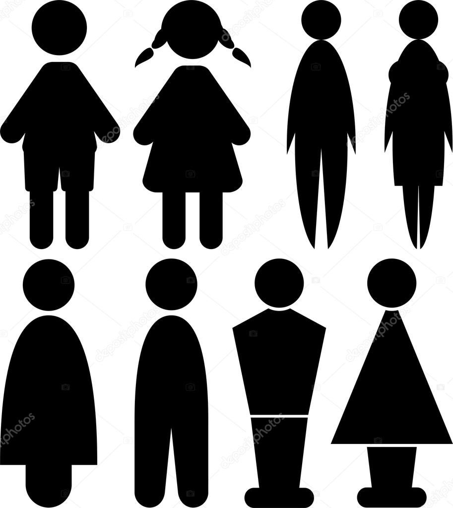Men and woman signs - toilet - Stock Illustration